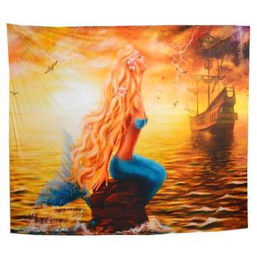 Šátek - přehoz Mořská panna  - 1