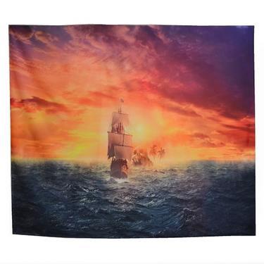 Šátek - přehoz Pirátský koráb  - 1