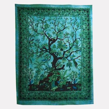 Šátek - přehoz double - Strom Života  - 1