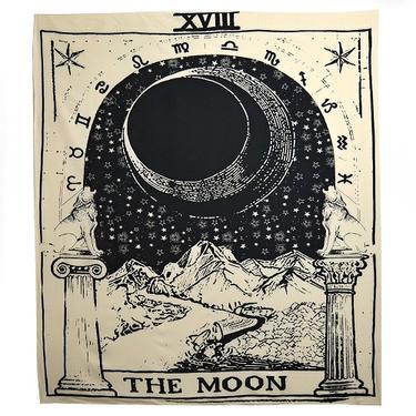 Šátek - přehoz Tarotová karta Měsíc  - 1