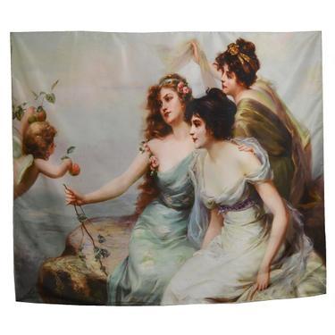 Šátek - přehoz Tři ženy s andělem  - 1