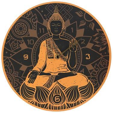 Nástěnné hodiny Zlatý Buddha  - 1
