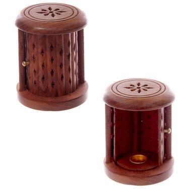 Stojánek na vonné kužely - Dřevěná klec  - 1