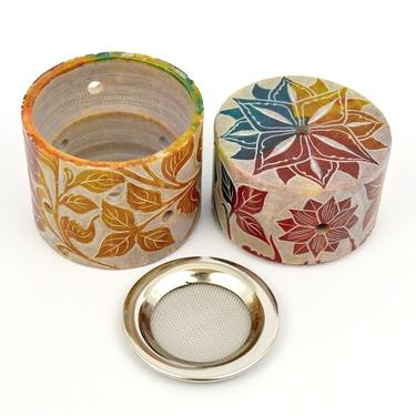 Kadidelnice mastek s kovovou mřížkou - Floral  - 1