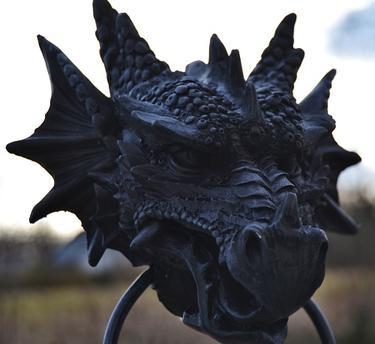 Fantasy klepadlo - Černý drak  - 1