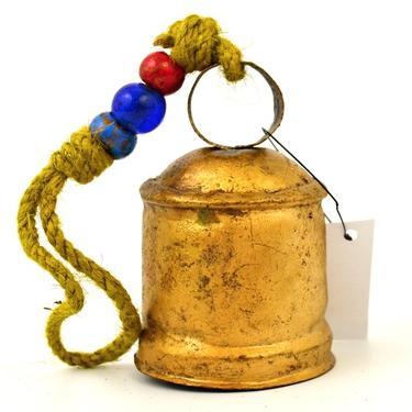 Kovový zvonek se závěsem 9 x 6 cm  - 1
