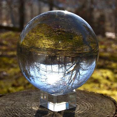 Skleněná broušená křišťálová koule 10 cm  - 1