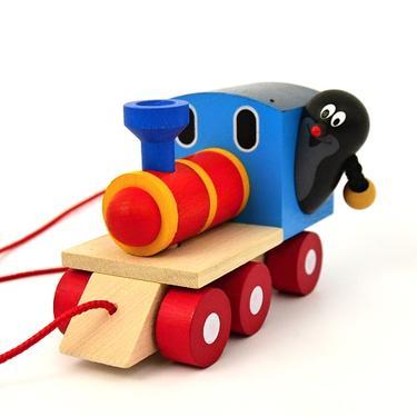 Dřevěná hračka - Krteček a mašinka  - 1
