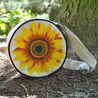 Taška přes rameno kulatá - Slunečnice  - 1