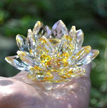 Sluneční Lotos z křišťálového skla velký  - 1
