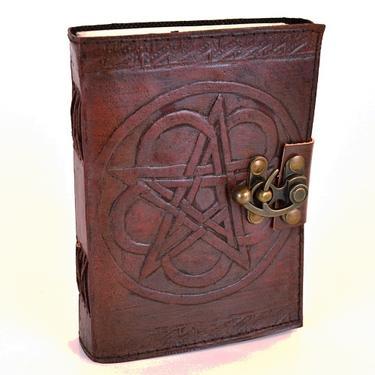 Magický deník - Pentagram, pravá kůže  - 1