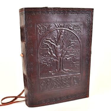 Magický deník velký - Strom Života, pravá kůže  - 1