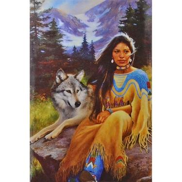 Magnetka - Indiánka s vlkem