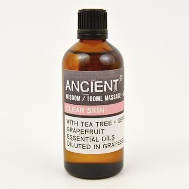 Masážní olej - kompozice Clear Skin, 100 ml