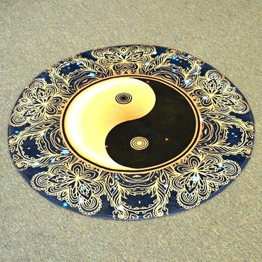 Meditační kobereček Jin Jang kulatý, 80 cm průměr  - 1