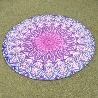 Meditační kobereček Fialová Mandala kulatý, 80 cm  - 1