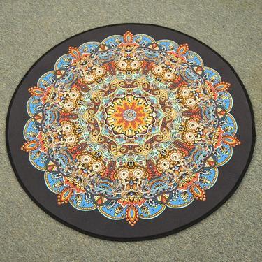 Meditační kobereček Mandala Hvězda kulatý, 80 cm  - 1