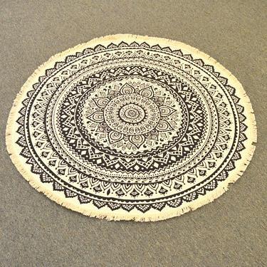 Meditační kobereček Faiza kulatý, 90 cm průměr  - 1