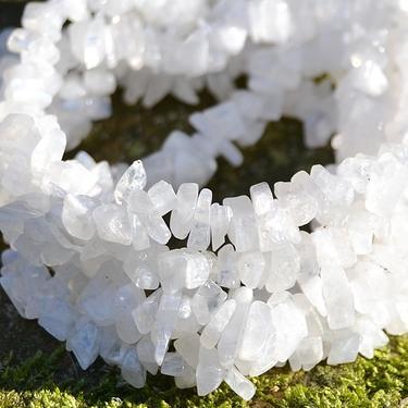Náhrdelník měsíční kámen bílý, tamblovaný 90 cm  - 1