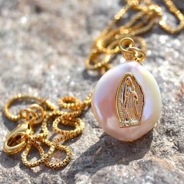 Náhrdelník Panna Marie s perlou  - 1