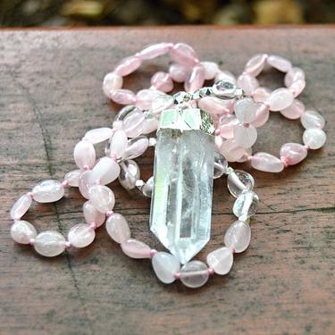 Náhrdelník Růženín, křišťál krystal  - 1