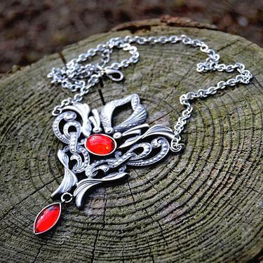 Fantasy náhrdelník Síla Života, červený  - 1