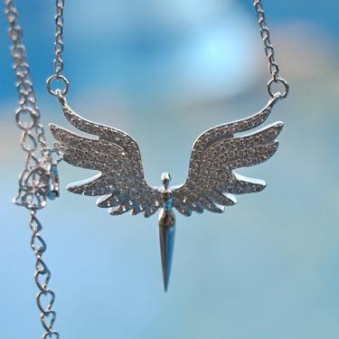 Náhrdelník Bílý Anděl, stříbro Ag 925/1000  - 1