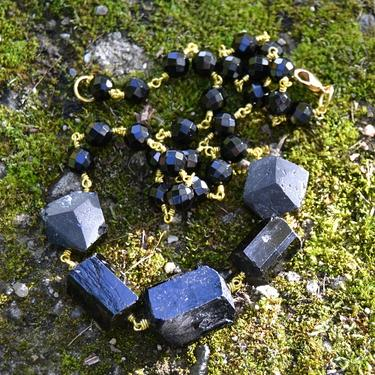 Náhrdelník Turmalín skoryl krystaly  - 1