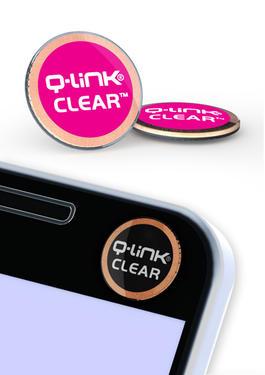 Nálepka Q-Link biorezonátor CLEAR, růžová  - 1
