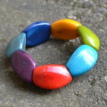 Náramek Yomira - Tagua ořechy Ekvádor Multicolour