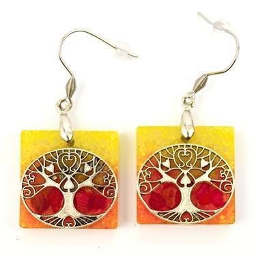 Náušnice orgonit - Oranžový Strom