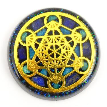 Orgonit magnet Metatronova kostka zlatá  - 1