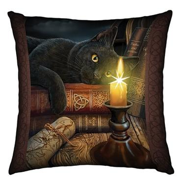Polštář fantasy svítící - Černý kocour