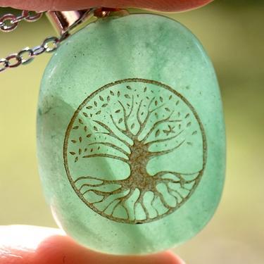 Přívěsek Strom Života, zelený aventurín  - 1