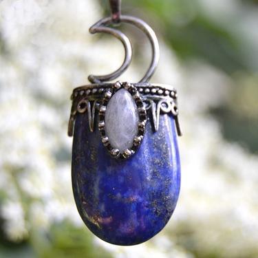 Přívěsek Královna noci - Lapis lazuli, labradorit  - 1