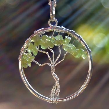 Přívěsek Olivín - Zelený Strom