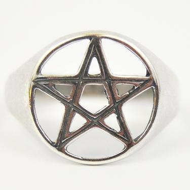 Prsten Pentagram stříbro Ag 925/1000 - vel. 63  - 1