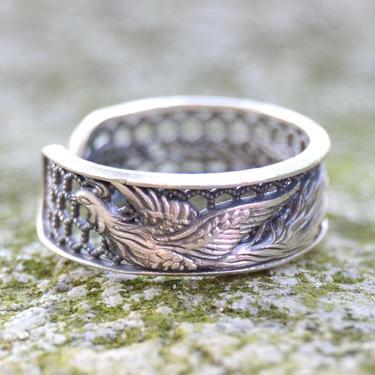 Stříbrný prsten s Fénixem  - 1