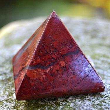 Pyramida - Jaspis brekciový 35 mm  - 1