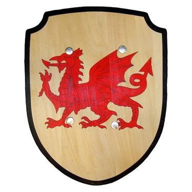 Rytířský štít dřevěný - Velšský Drak