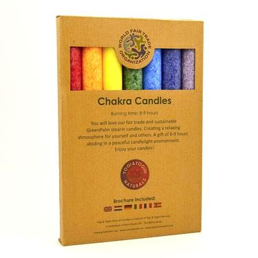 Čakrové aromaterapeutické svíčky Sada 7  - 1