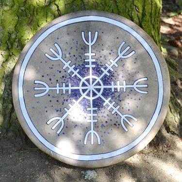 Šamanský buben Aegishjalmur 40 cm  - 1