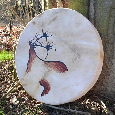 Šamanský buben Jeskynní malba 40 cm  - 1