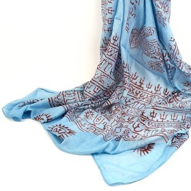 Šátek mantra - světle modrý  - 1