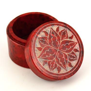 Šperkovnice Mastek Květina, červená  - 1