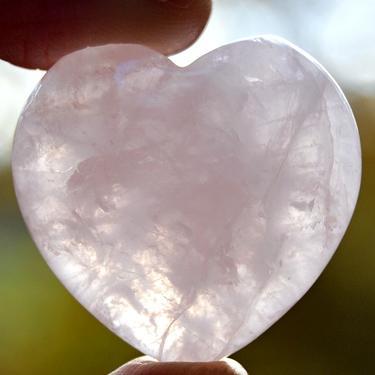 Růženín - broušené srdce 40 mm  - 1