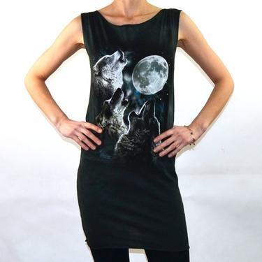 Fantasy dámské šaty - Vlčí duše, vel. S  - 1
