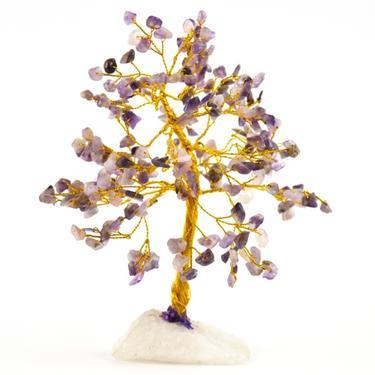 Stromeček štěstí - ametyst, 160 kamínků