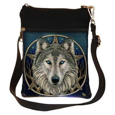 Taška přes rameno mini fantasy - Vlk