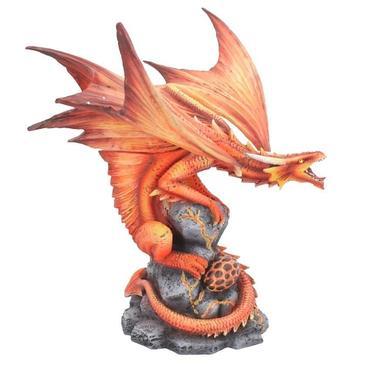 Socha fantasy exclusive - Velký ohnivý drak  - 1